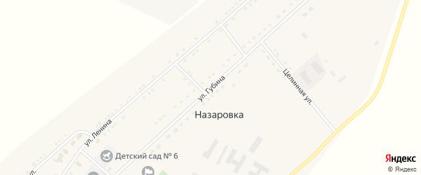 Улица Губина на карте села Назаровки с номерами домов