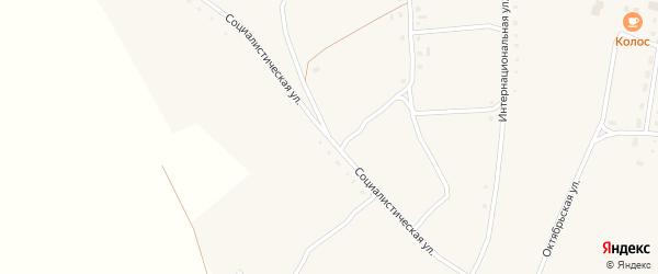 Социалистическая улица на карте села Коротояка с номерами домов