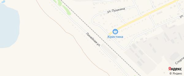 Линейная улица на карте Михайловского села с номерами домов