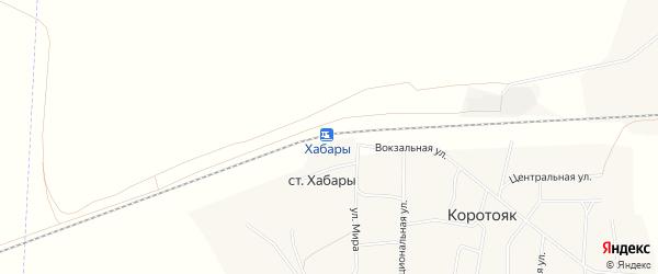 Карта станции Хабаров в Алтайском крае с улицами и номерами домов