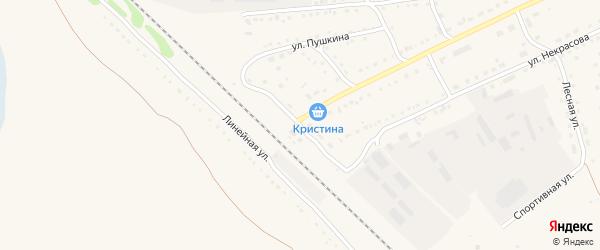 Привокзальная улица на карте станции Николаевки с номерами домов