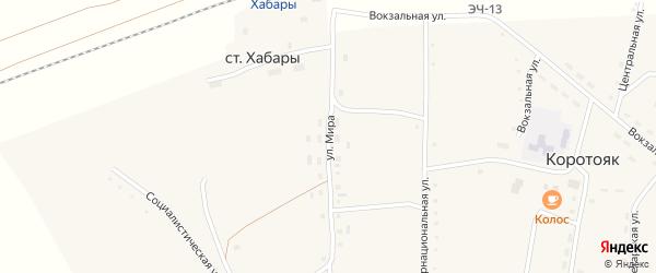 Улица Мира на карте села Коротояка с номерами домов