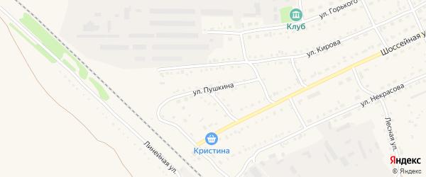 Улица Пушкина на карте Михайловского села с номерами домов