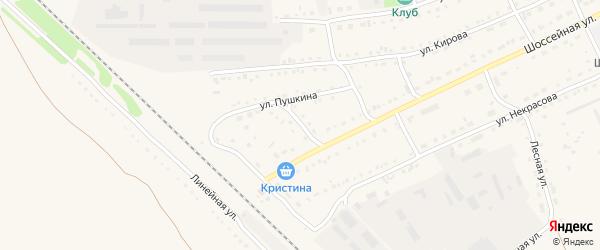 Вокзальная улица на карте Михайловского села с номерами домов