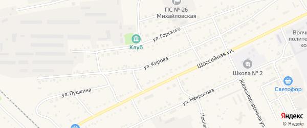 Улица Кирова на карте Михайловского села с номерами домов
