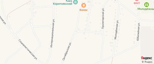 Октябрьская улица на карте села Коротояка с номерами домов