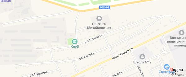 Улица Горького на карте Михайловского села с номерами домов
