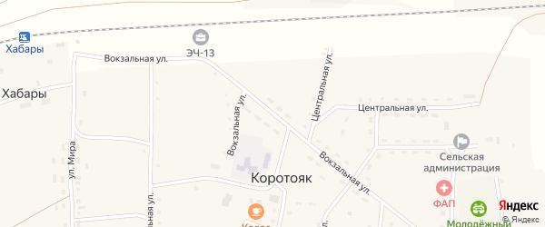 Вокзальная улица на карте села Коротояка с номерами домов