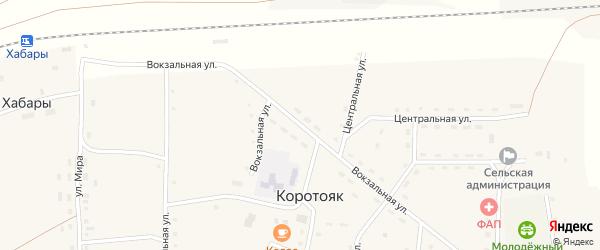 Вокзальная улица на карте станции Хабаров с номерами домов