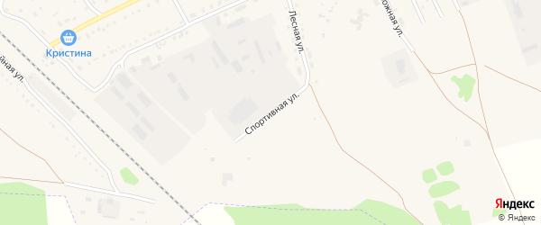 Спортивная улица на карте Михайловского села с номерами домов