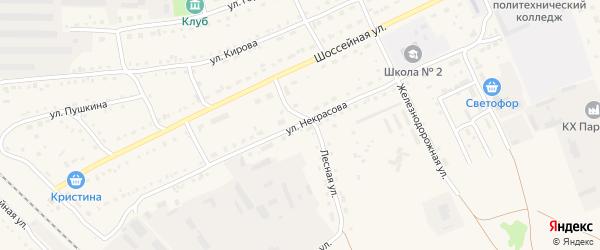Улица Некрасова на карте Михайловского села с номерами домов