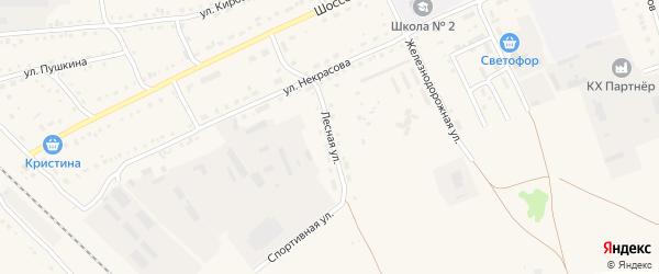 Лесная улица на карте Михайловского села с номерами домов