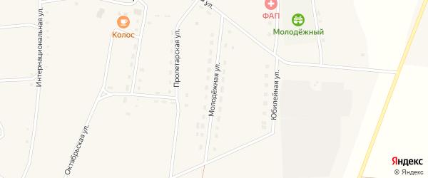 Молодежная улица на карте села Зятьковой Речки с номерами домов