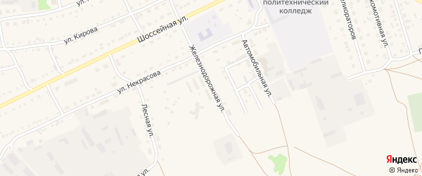 Железнодорожная улица на карте Михайловского села с номерами домов