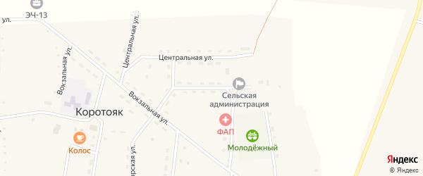 Советская улица на карте села Зятьковой Речки с номерами домов