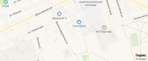 Строительная улица на карте Михайловского села с номерами домов