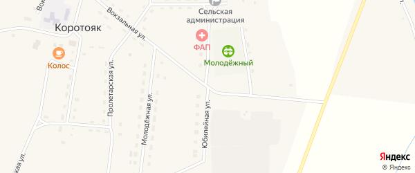 Юбилейная улица на карте села Коротояка с номерами домов