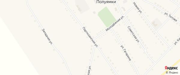 Партизанская улица на карте поселка Малинового Озера с номерами домов