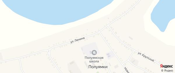 Улица Ленина на карте села Полуямки с номерами домов
