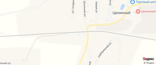 Улица Железнодорожный переезд на карте Целинного поселка с номерами домов