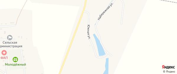 Южная улица на карте Целинного поселка с номерами домов