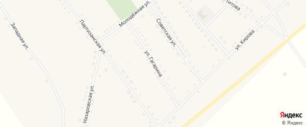 Улица Гагарина на карте села Полуямки с номерами домов