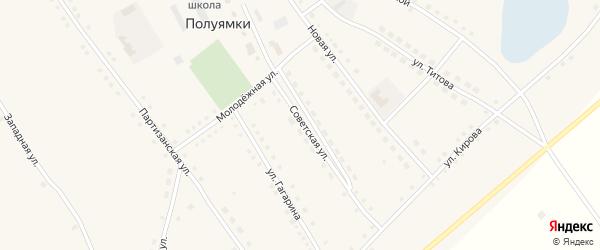 Восточная улица на карте села Полуямки с номерами домов