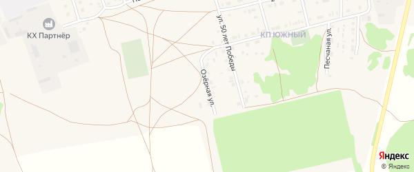 Озерная улица на карте Михайловского села с номерами домов