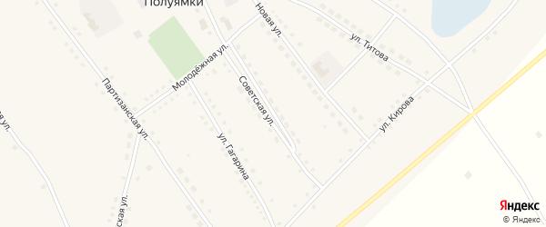 Советская улица на карте села Полуямки с номерами домов