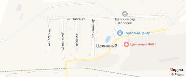 Целинная улица на карте Целинного поселка с номерами домов
