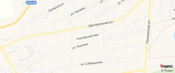 Чкаловский переулок на карте Михайловского села с номерами домов
