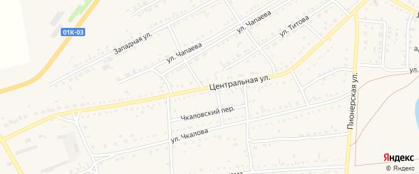 Центральная улица на карте Михайловского села с номерами домов