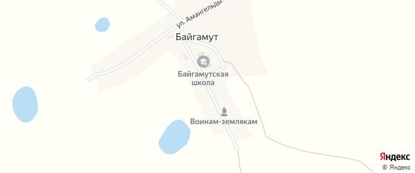 Абая улица на карте поселка Байгамута с номерами домов