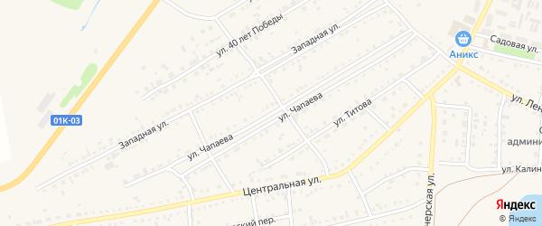 Улица Чапаева на карте Михайловского села с номерами домов
