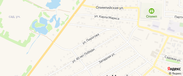 Улица Пирогова на карте Михайловского села с номерами домов