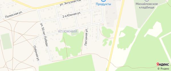 Песчаная улица на карте Михайловского села с номерами домов