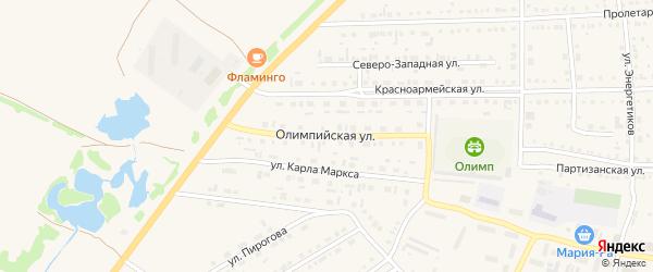 Олимпийская улица на карте Михайловского села с номерами домов