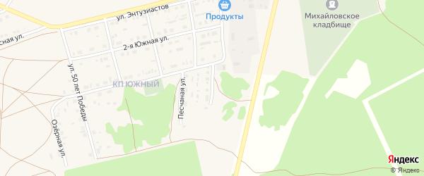 Солнечная улица на карте Михайловского села с номерами домов