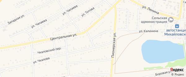 Пионерская улица на карте Михайловского села с номерами домов