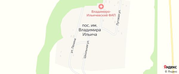 Луговая улица на карте поселка им Владимира Ильича с номерами домов