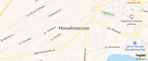 Улица Кирзавод на карте Михайловского села с номерами домов