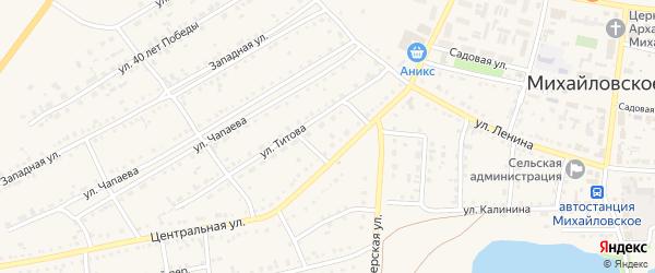 Пограничная улица на карте Михайловского села с номерами домов