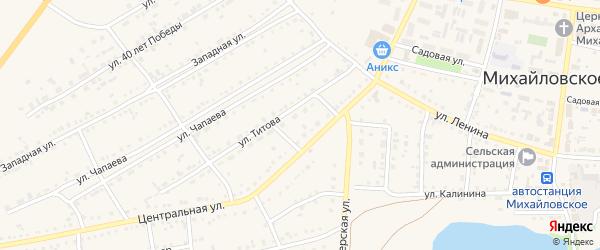 1-й Калининский переулок на карте Михайловского села с номерами домов