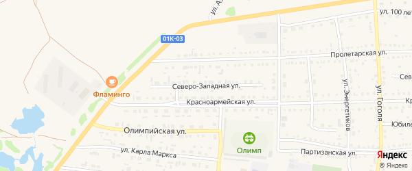 Северо-Западная улица на карте Михайловского села с номерами домов