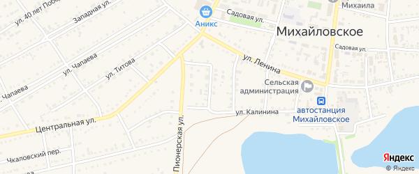 4-й Калининский переулок на карте Михайловского села с номерами домов