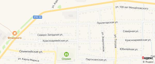 Красноармейская улица на карте Михайловского села с номерами домов