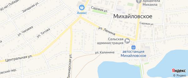 3-й Калининский переулок на карте Михайловского села с номерами домов