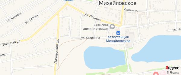 Улица Калинина на карте Михайловского села с номерами домов
