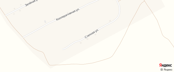 Степная улица на карте села Алексеевки с номерами домов