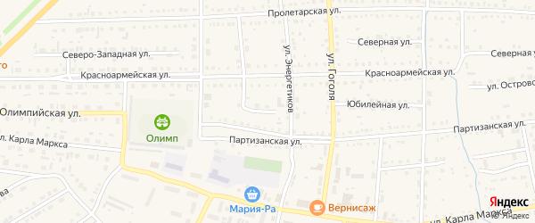 Улица Энергетиков на карте Михайловского села с номерами домов